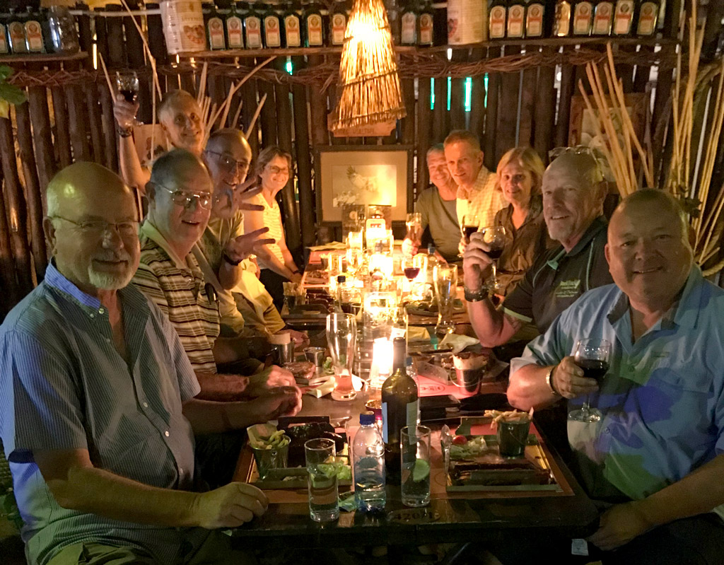 guided safari dinner